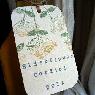 Love Making Things: Elderflower Cordial 2011 ~love the label