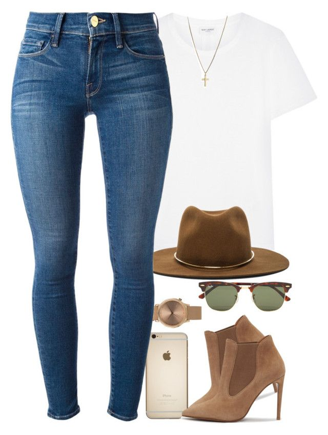 Harry Styles inspired by daisym0nste on Polyvore featuring polyvore fashion style Yves Saint Laurent Frame Denim Ralph Lauren Topshop Janessa Leone Ray-Ban clothing