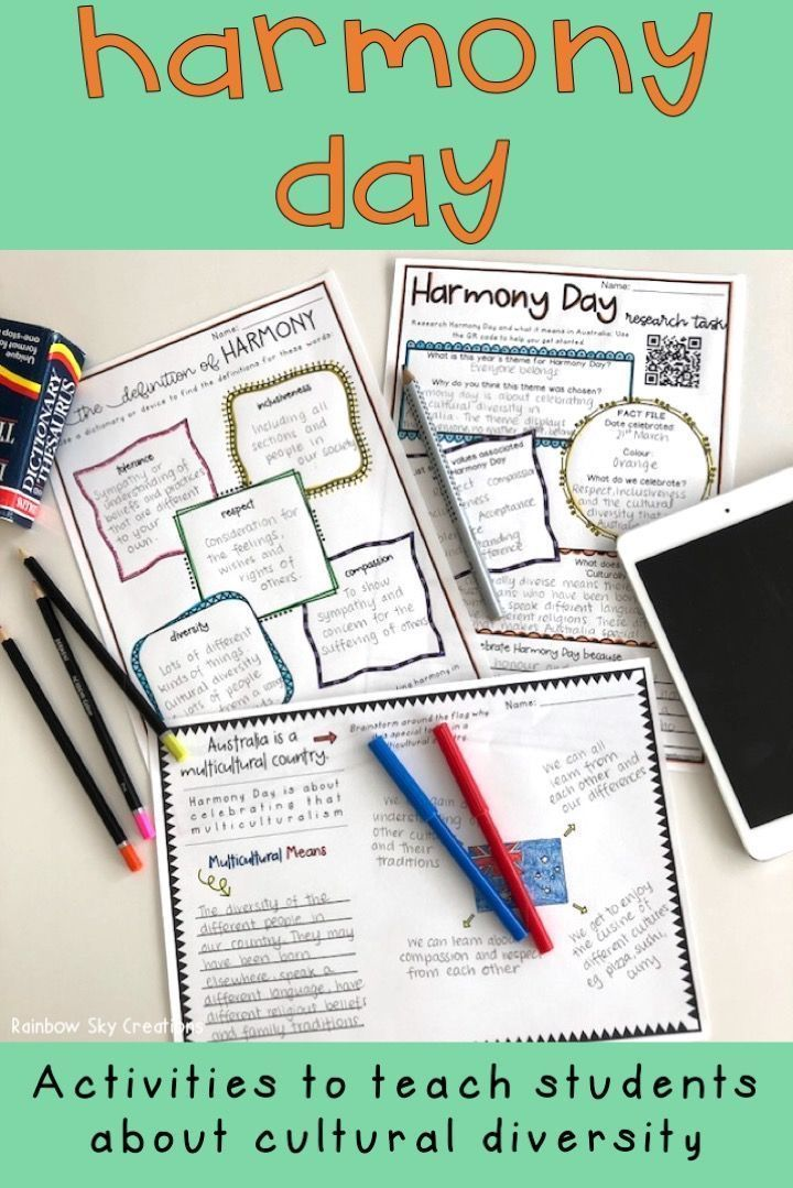 Check out this set of fun activities for Year 5 and Year 6 about Harmony Day in Australia. These printables include a poster for display, writing, numeracy and creative tasks. Use these templates to teach that 'everyone belongs' in our multicultural society. Worksheets are a great way to introduce the values of Harmony week at your school. Suitable for Year five and Year six (Grade 5, Grade 6, homeschool, International Day for the Elimination of Racial Discrimination)