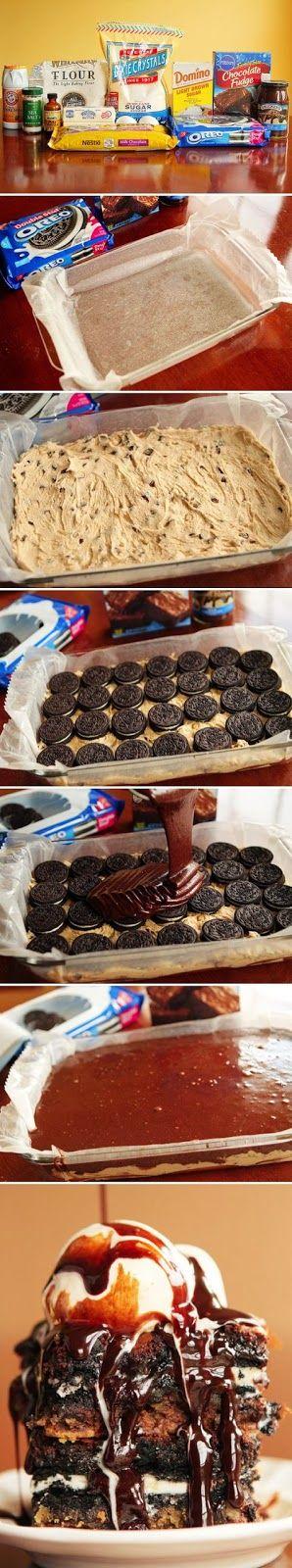 The Best Cookie Fudge Brownie Bars Ever ❤ • #recipes • #chocolate • #cockies • #tutorial • #icecream • #brownies • #desserts