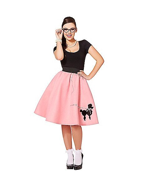 Womens 50s Poodle Skirt