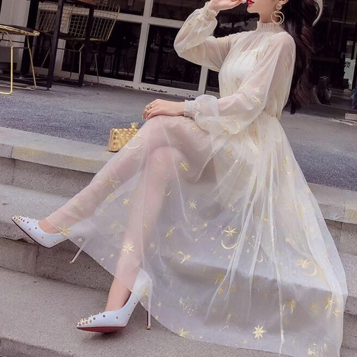 Syndrome Korean Fashion Dress Fashion Dresses Formal Tulle Long Dress