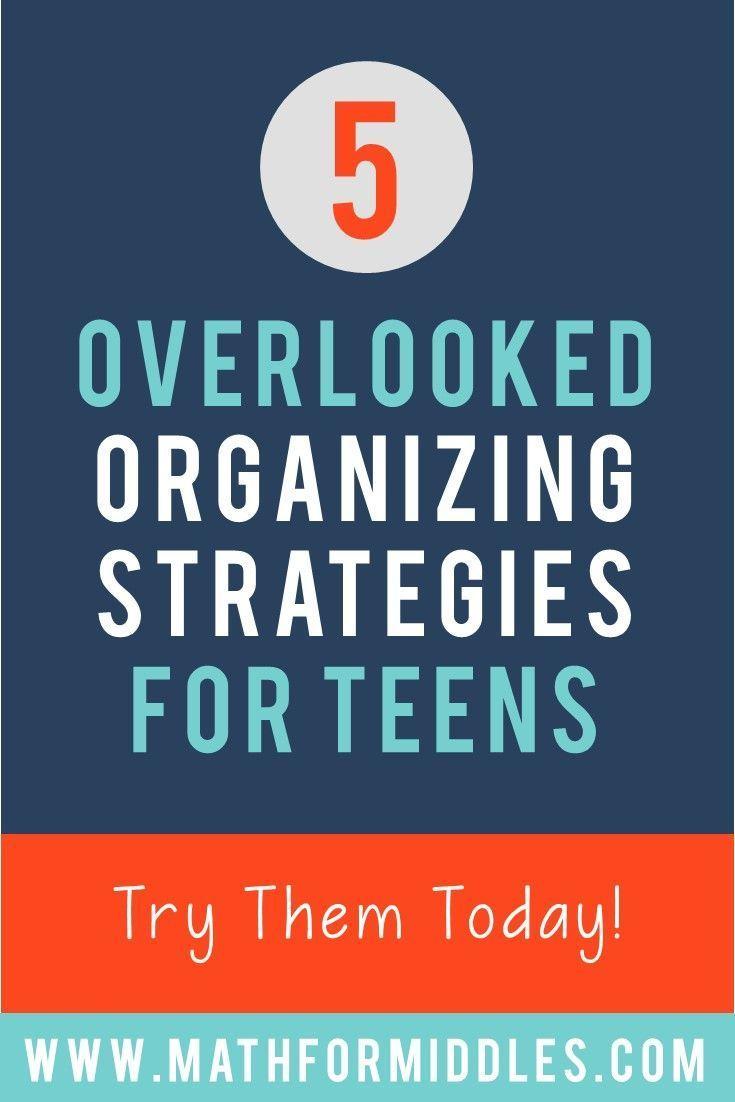 Overlooked Organizing Strategies for Teens #organizationalskills #middleschool #studyskills