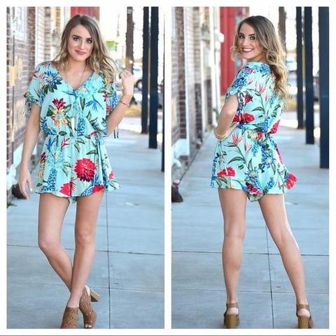 Summer Romper for Women, Floral Shorts Romper, Online Clothing Boutique