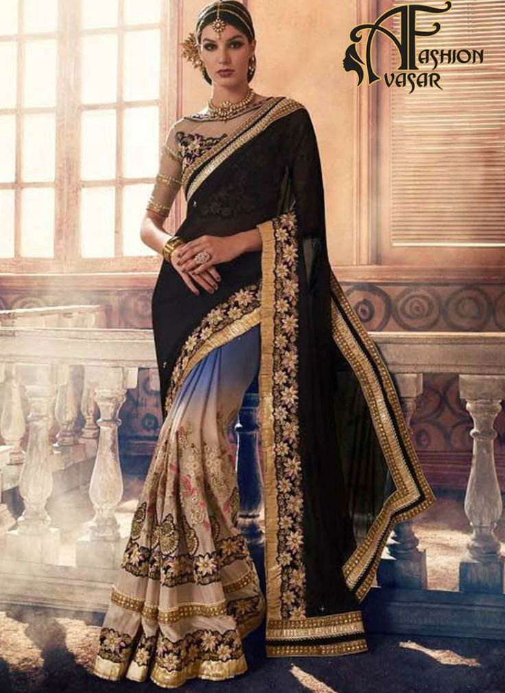 online buy designer georgette sarees – buy designer black georgette sarees shopping india