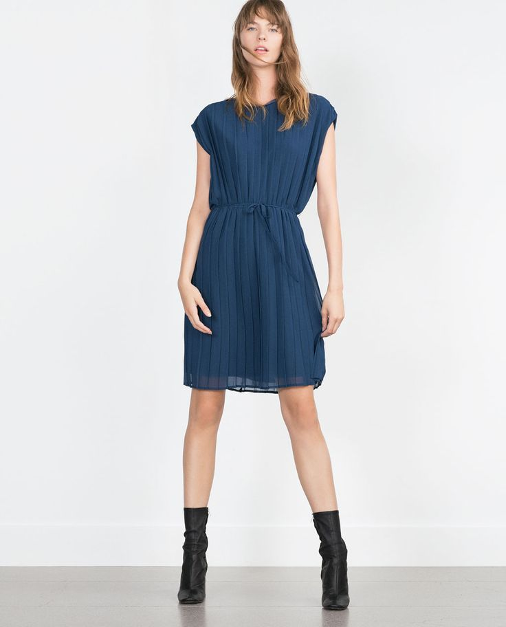 PLEATED DRESS-View all-Dresses-WOMAN | ZARA United States