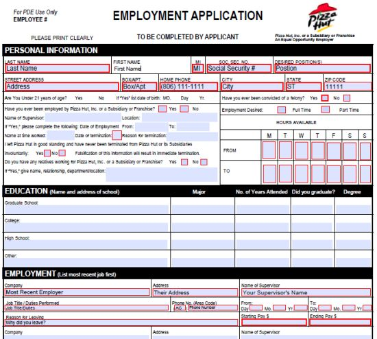 35 Best Job Application Forms Images On Pinterest