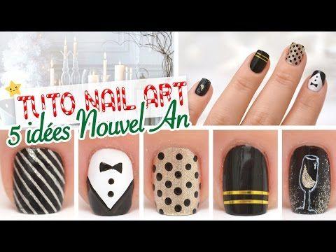 Nail art ♡ 5 idées Nouvel An - YouTube - yoko nail art