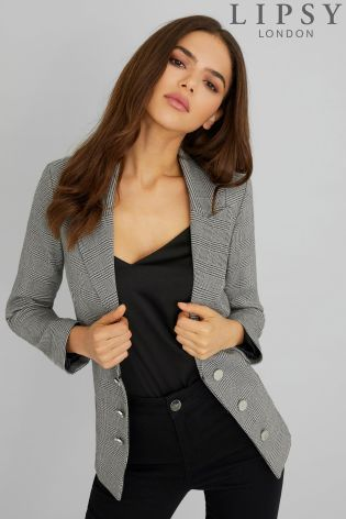 e5408692a1ee87 Buy Lipsy Tailored Check Blazer from the Next UK online shop