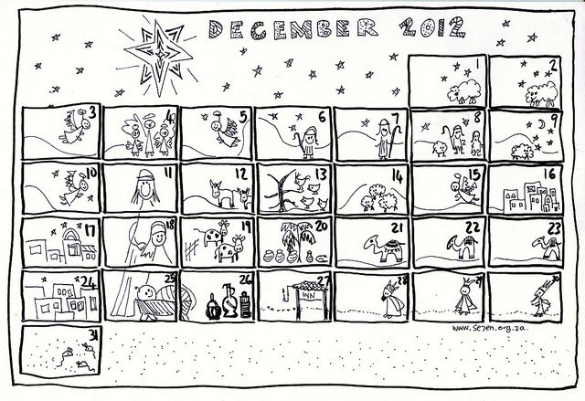 coloring page advent calendar diy