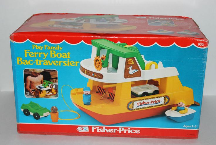 Vintage 1979 Fisher Price Little People Ferry Boat 932 BRAND NEW SEALED! #FisherPrice