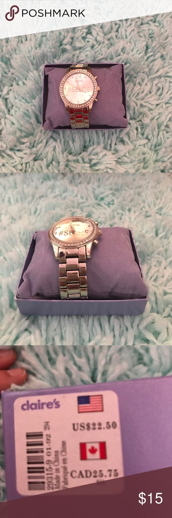 Claire's watch New, never worn with tags. Very shiny and works great Claire's Jewelry