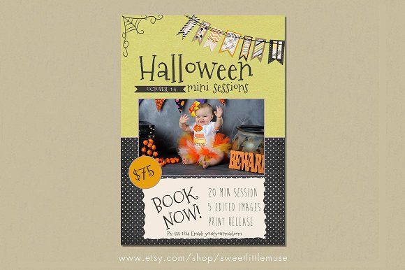 Halloween Mini Session Template by SweetLittleMuse on @creativemarket