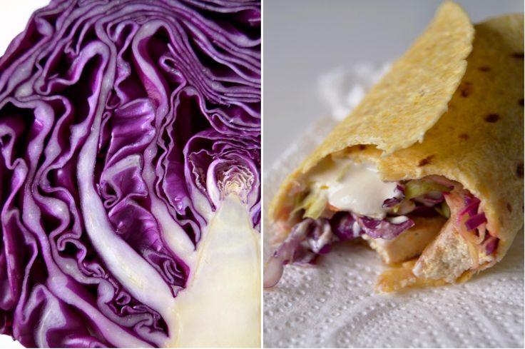 Purple cabbage / Taco tofu and cabbage salad
