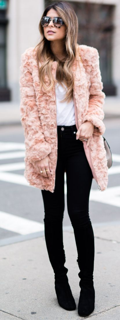 Best 25  Pink faux fur coat ideas on Pinterest | Pink fluffy ...