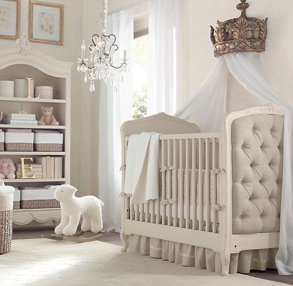 A Posh Neutral Color Nursery With White And Grey Decor Prefect For Your Little King Or Princess