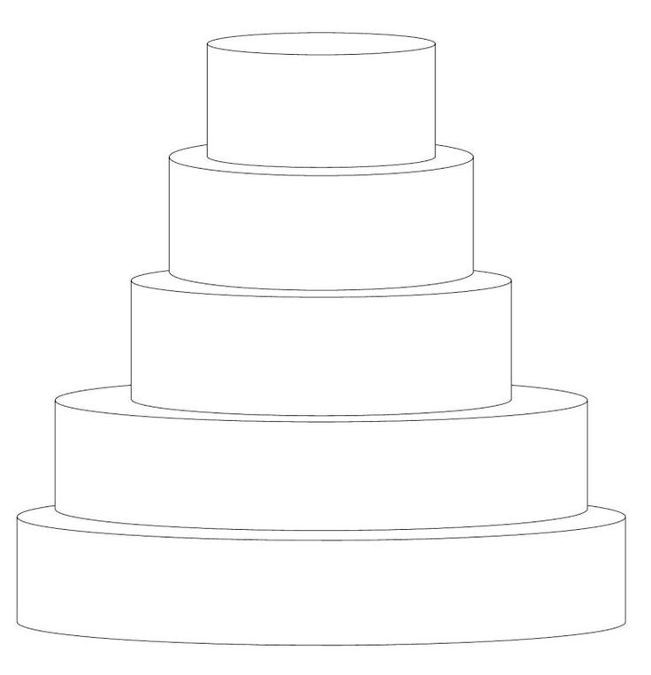 95 Best Cake Templates Images On Pinterest Cake Templates Cake - Wedding Cake Outline