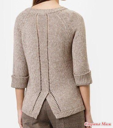 Приветствую Всех!!! На просторах великого Интернета нашла интересный пуловер. Делюсь с вами.  Всем легких петелек и отличного настроения!!!