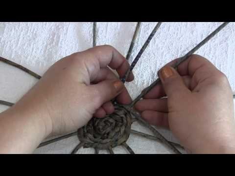 Плетёное квадратное дно. Часть 4. - YouTube