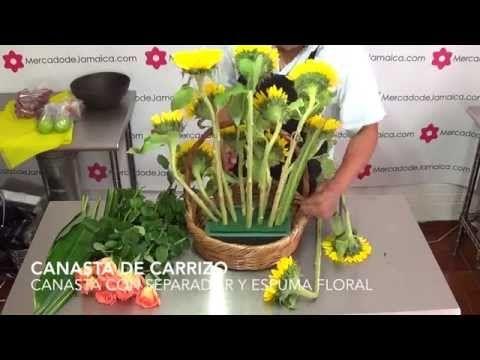 FLORERIAS DF ARREGLOS FRUTALES CON GIRASOLES - YouTube