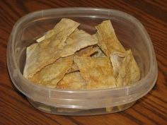 Trim Healthy Mama {Lavash Chips}-use olive oil cooking spray instead