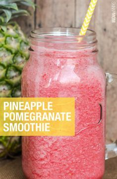 This pineapple pomegranate smoothie is the perfect summer treat!