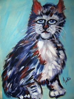 A Pretty Talent Blog: Painting A Cat In Oils