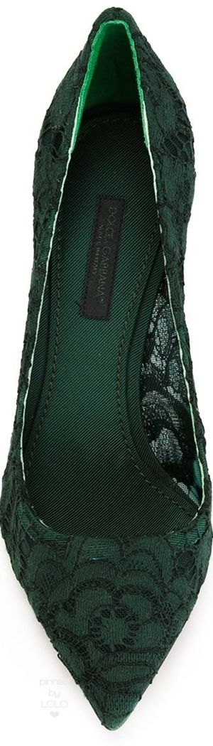 DOLCE & GABBANA 'Katei' pumps green | LOLO❤︎