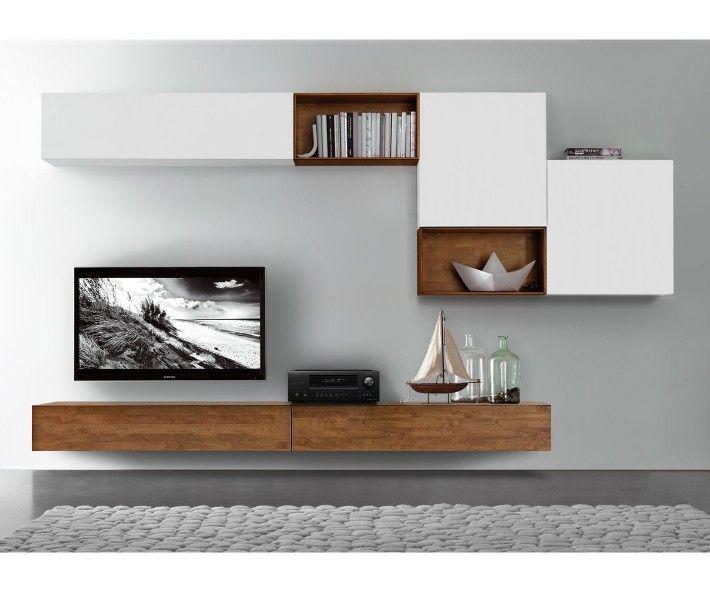 Die besten 10 tv lowboard h ngend ideen auf pinterest - Wohnwand braun weiay ...