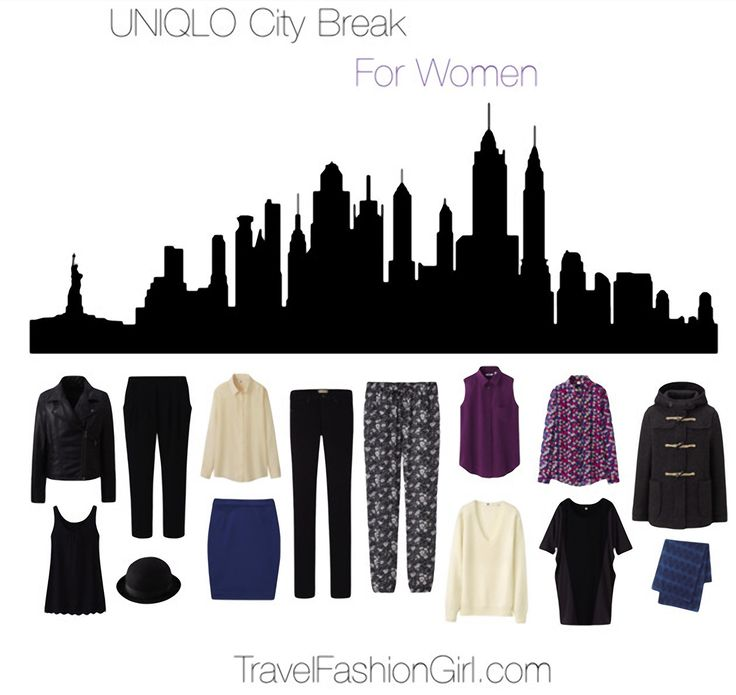 City Break Packing List for WOMEN featuring UNIQLO http://travelfashiongirl.com/ultralight-warmth-uniqlo-city-break-packing-list/ #travel #packing #list