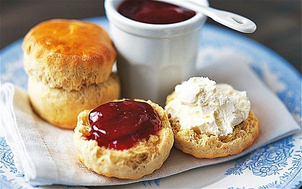 "Mary Berry - the Queen of baking - and her scones. Just tried it and haven't stopped ""quality testing"" them!"