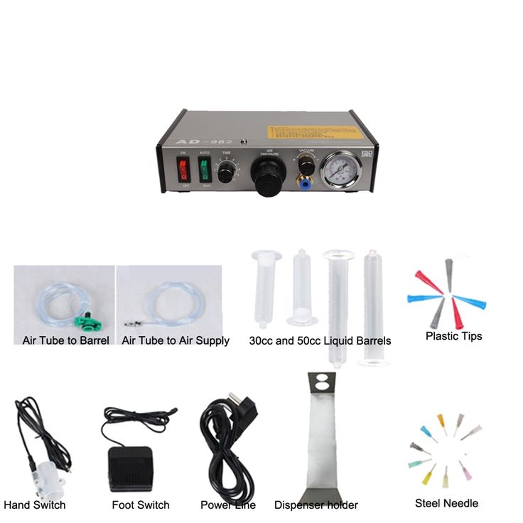 59.80$  Buy now - http://alibtf.shopchina.info/go.php?t=32810038603 -  1-78 PSI Semi-Auto Glue Dispenser 110V AD-982 PCB Solder Paste silica gel Liquid Adhesive Controller Fluid Dropper  #buyonlinewebsite