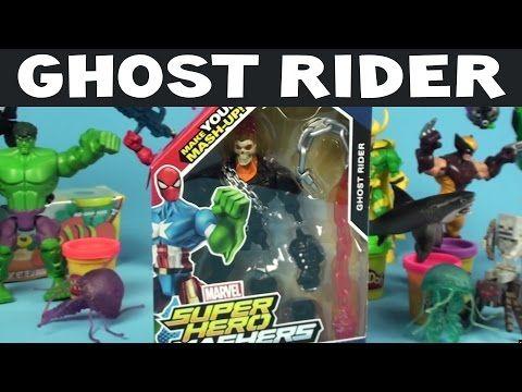 Ghost Rider Action Figure Marvel Superhero Mashers Unboxing - YouTube
