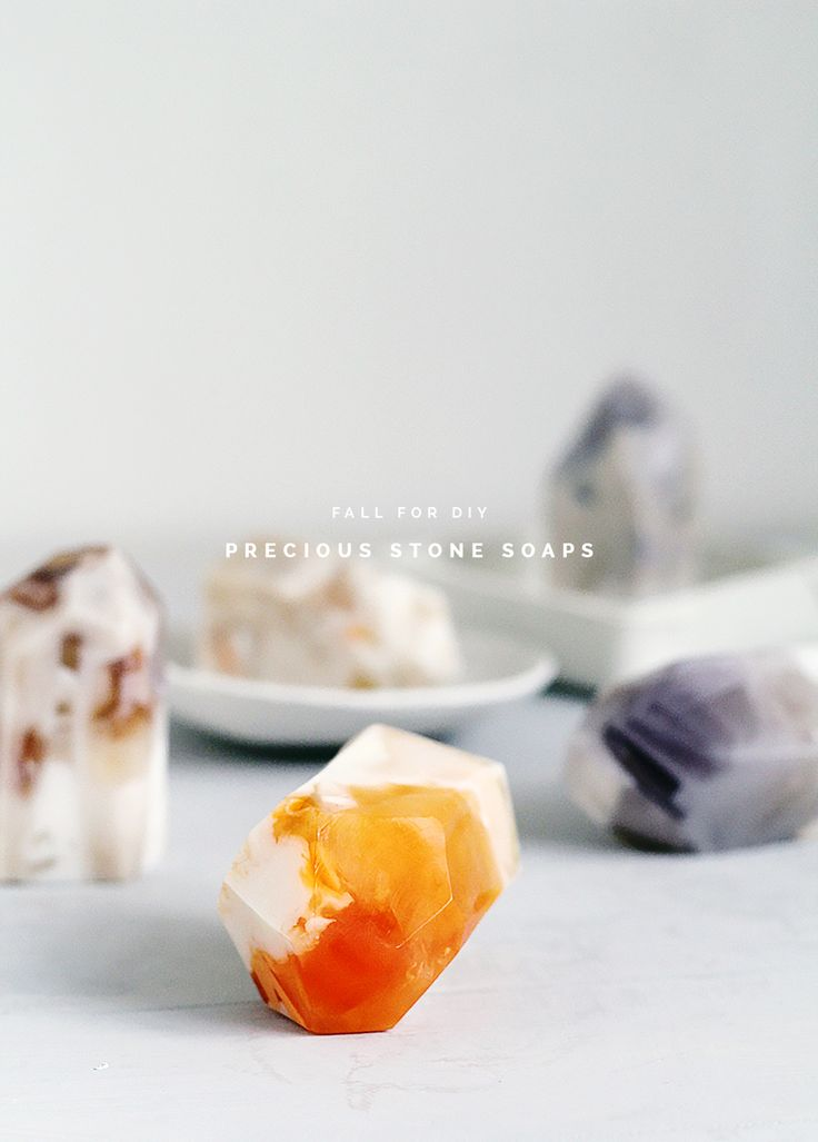 Great handmade mothers day gift - DIY Semi Precious Stone Soaps | Fall For DIY