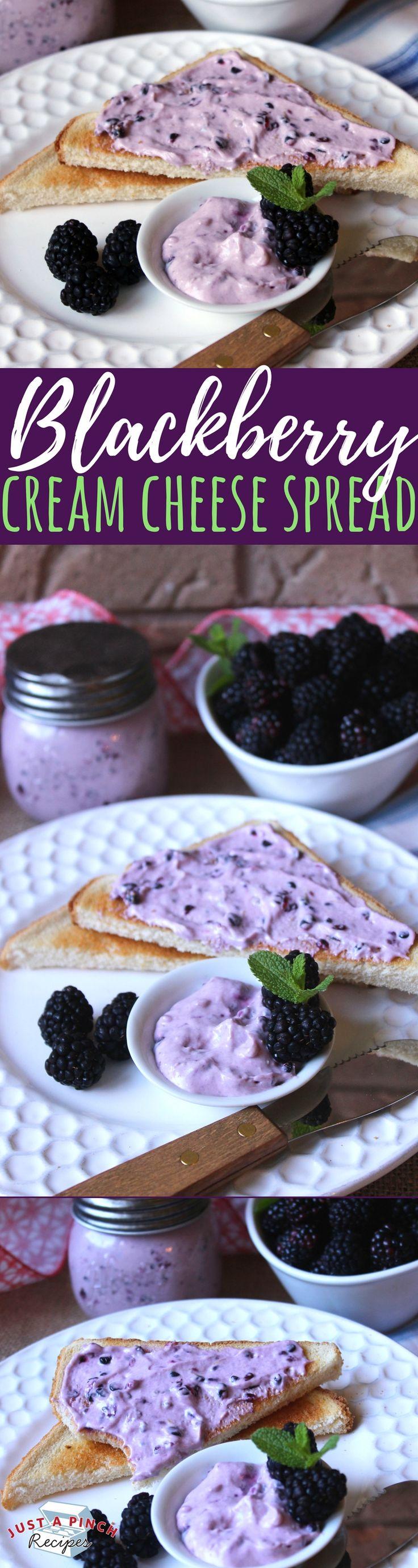 Easy Homemade Blackberry Cream Cheese Spread