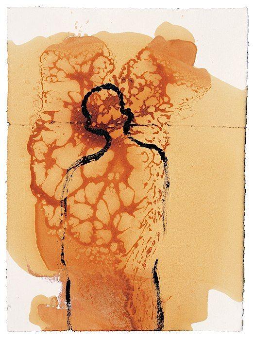 Antony Gormley | HYPERTROPHY, 1998, Soya oil, shellac, oil and pigment on paper