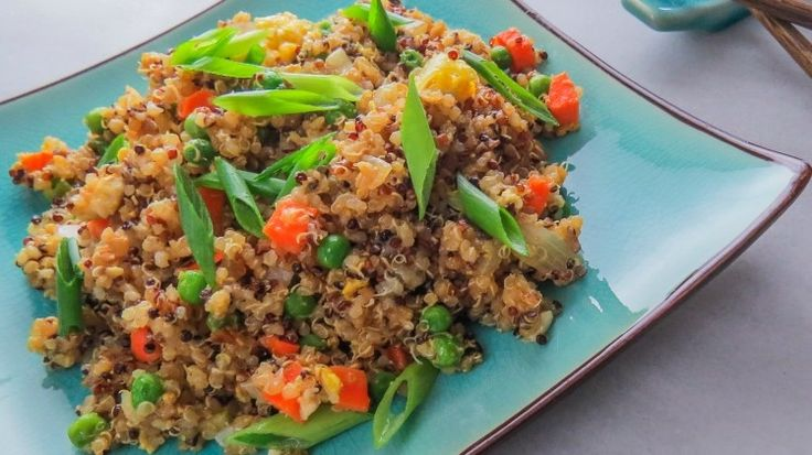 For a healthy alternative to everyone's favourite takeout, substitute the rice in fried rice with nutty, protein-rich quinoa.