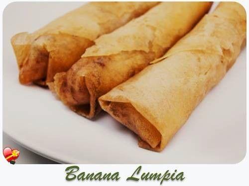 Easy Banana Lumpia local style Filipino recipe. Get more island favorites here.