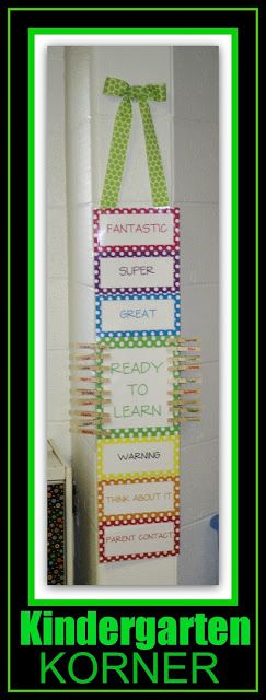 photo of: Vertical Behavior Chart from Kindergarten Korner (Behavior Chart RoundUP via RainbowsWithinReach)
