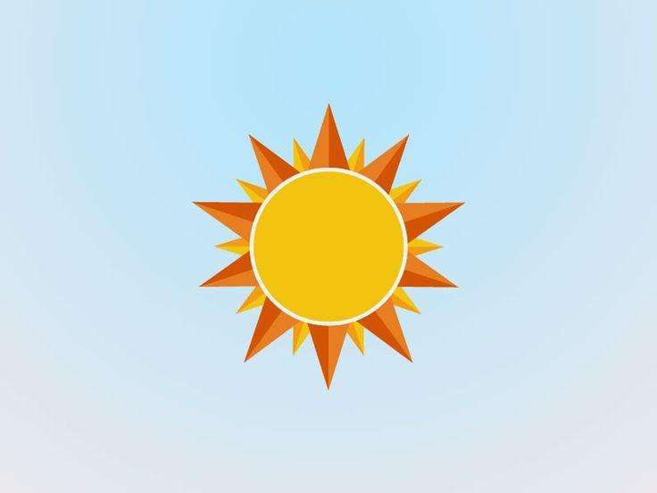 Angel's Sun Flat Icon by Angel Sanchez