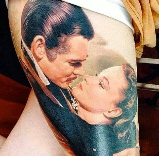 Gone With the Wind tattoo by James Tattoo Art