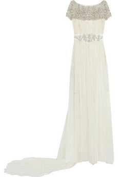 Marchesa Embellished tulle and lace gown | NET-A-PORTER
