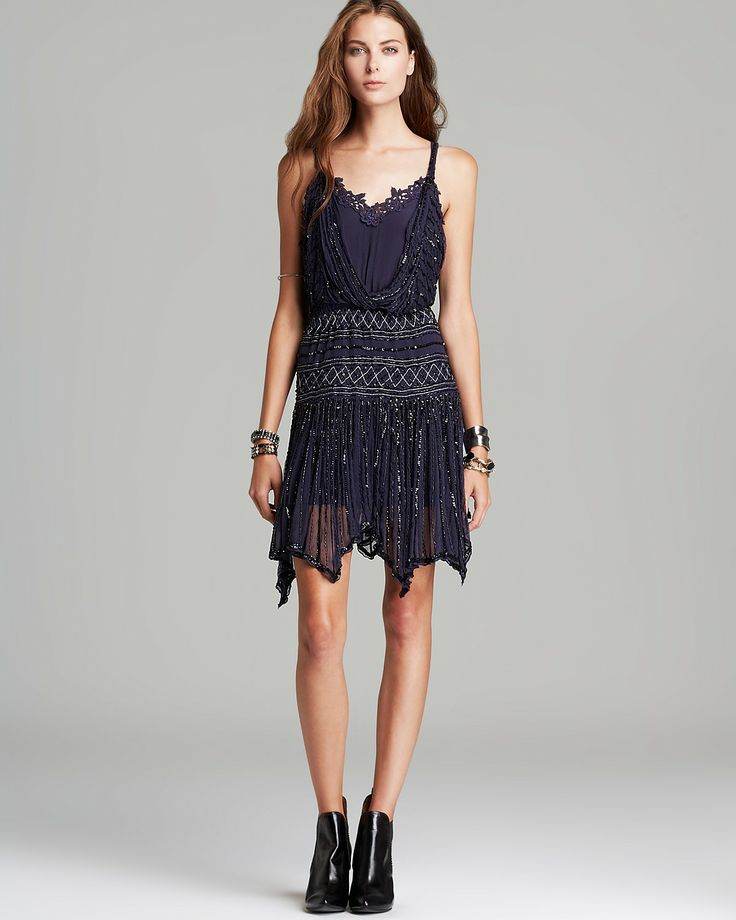 Free People Dress - Mint Tea Shimmer Party   Bloomingdale's