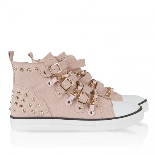 Supertrash - Gympen Canvas Chainsneakers roze € 99,95