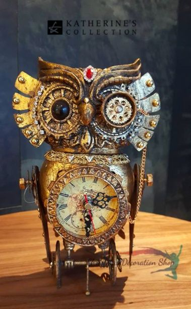 Katherine's Collection Owl Clock Display Ornament - Christmas Decorations Online