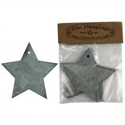 Zinc Star Tags: Tags Stars, Christmas Books, Beautiful Christmas, Zinc Stars, Stars Tags, Zinc Tags, Gifts Tags, Christmas Mantles, Frankie Stars