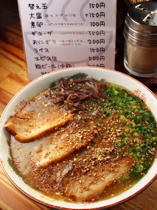 Kumamoto Ramen with Roasted Garlic Powder 熊本ラーメン