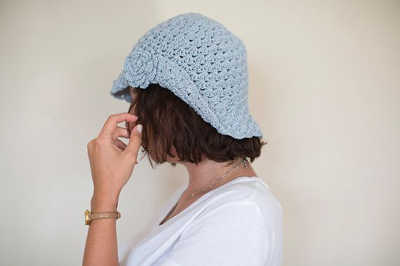 Crochet hat, Crochet women hat, French Beret