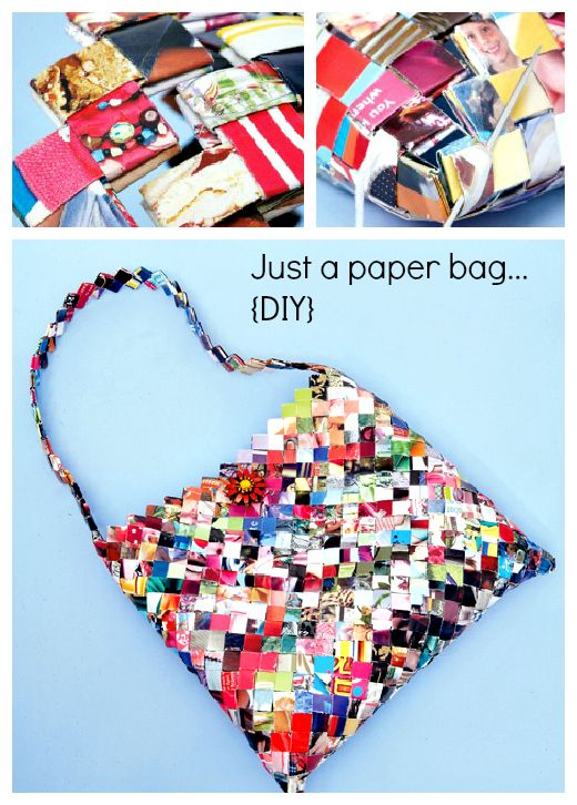 Turn an old magazine into a purse/handbag (DIY)