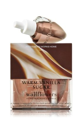Warm Vanilla Sugar - Wallflowers 2-Pack Refills - Bath & Body Works - Fragrance that welcomes you home! Combine with your favorite Wallflowers Fragrance Plug, sold separately, to scent any room with noticeable fragrance for weeks and weeks.